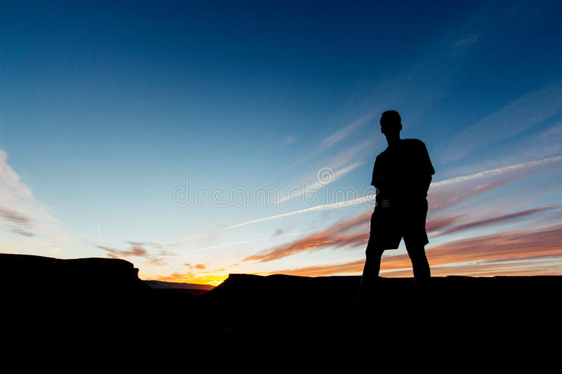Silhouette Of Man Under Blue Sunny Sky At Daytime Free Public Domain Cc0 Image