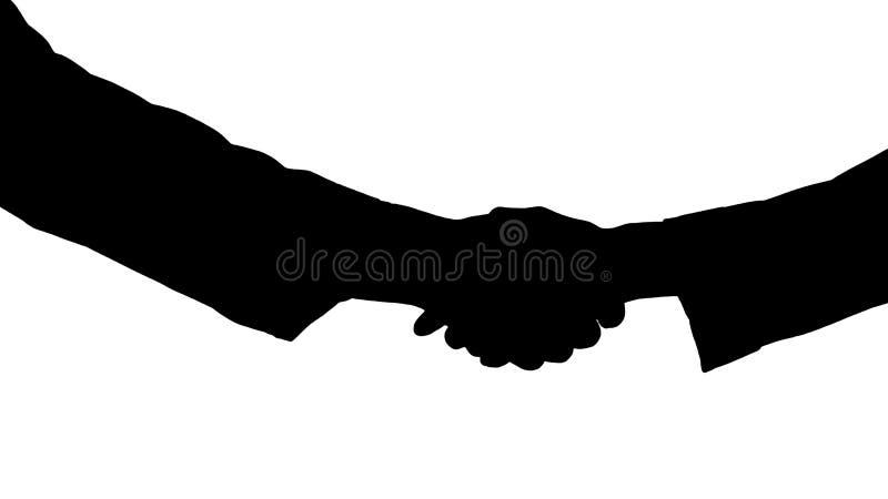 Silhouette Medical handshake. royalty free stock photos