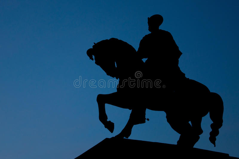 Download The Silhouette Of Mihai Viteazu Stock Photo - Image of mihai, black: 36691258