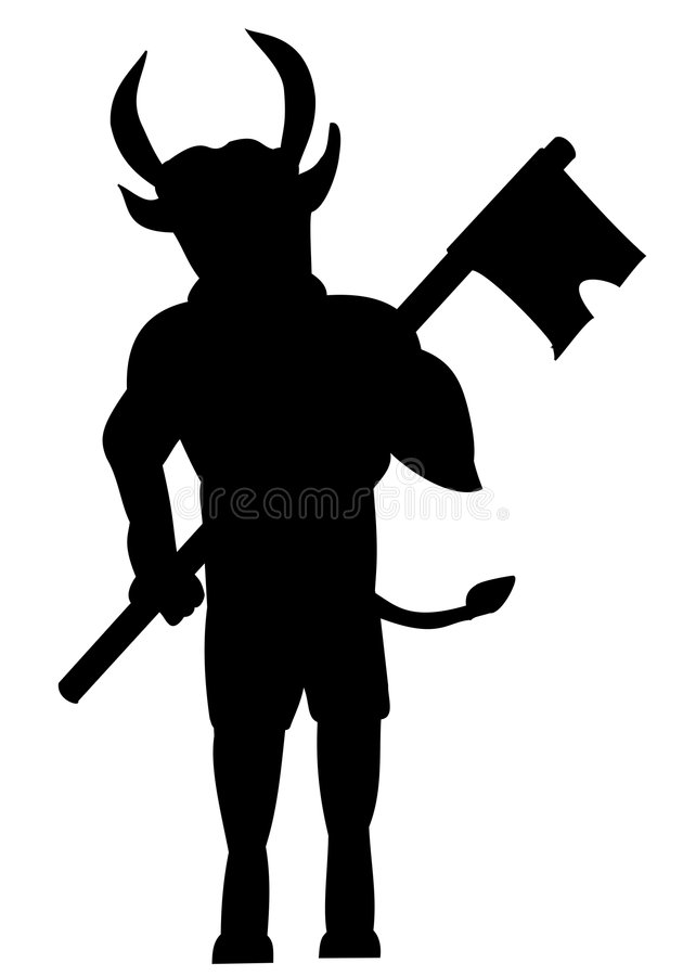 Silhouette of minotaur royalty free stock images