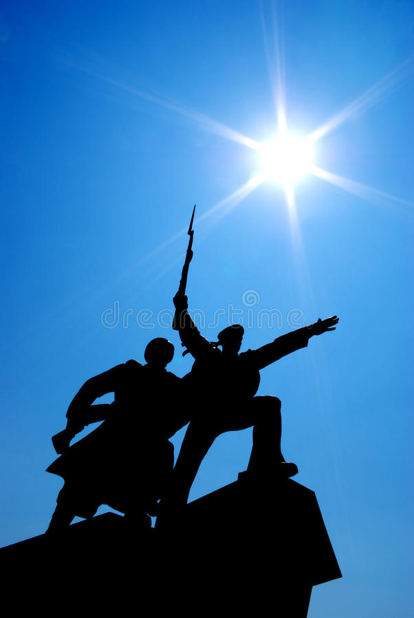 Silhouette Of Monument Stock Photos