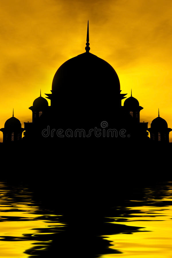 Download Silhouette Of A Mosque Stock Photo - Image: 25541360