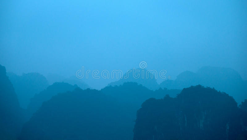 China Laos hills Landscape of mountains royalty free stock image