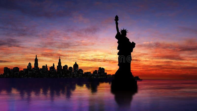 silhouette neuve York image libre de droits