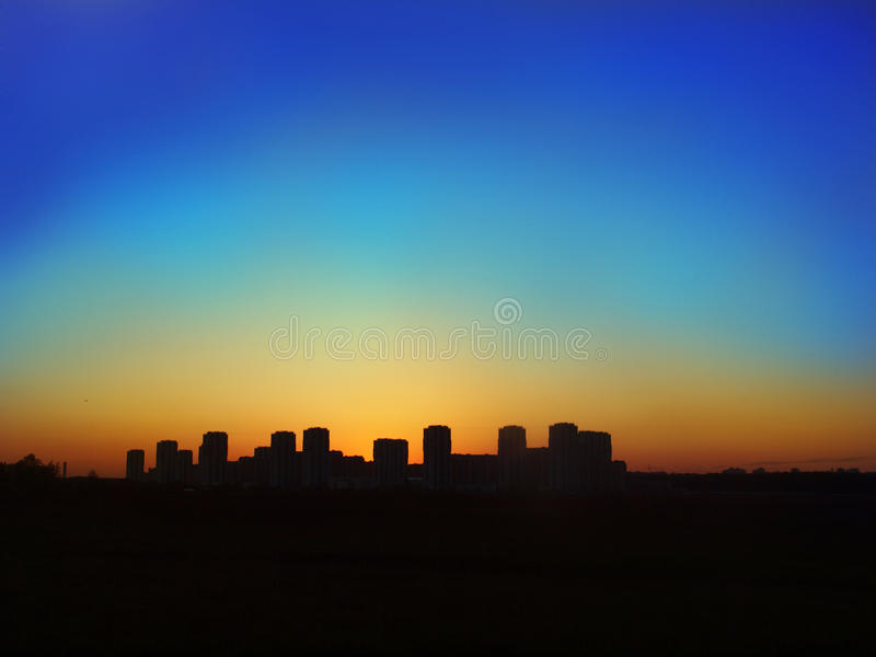 Download Silhouette of night city stock photo. Image of east, building - 26525872