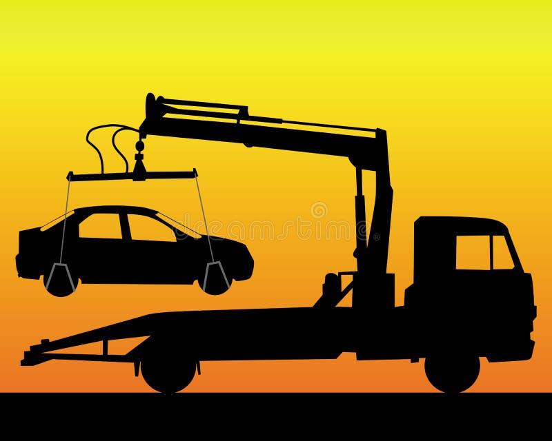silhouette noire d 39 un camion de remorquage illustration de vecteur illustration du mat riel. Black Bedroom Furniture Sets. Home Design Ideas