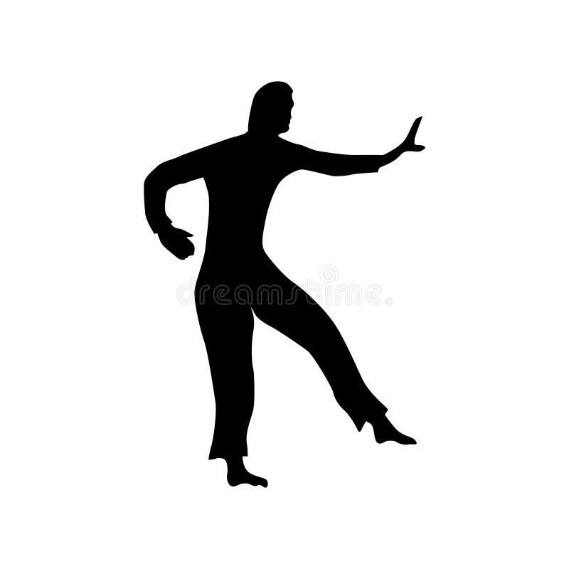 Silhouette noire de karaté illustration de vecteur