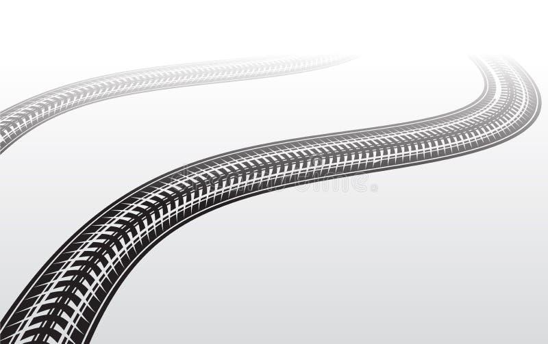 Zigzag de voie de pneu illustration libre de droits
