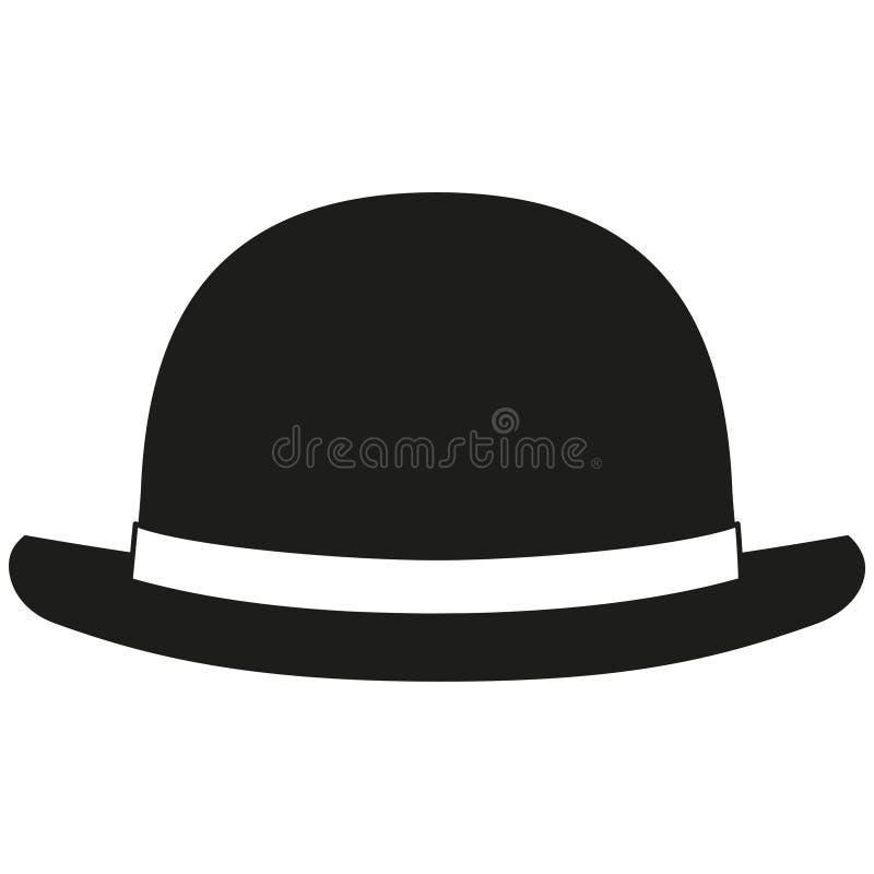 Silhouette noire et blanche de chapeau de lanceur illustration libre de droits