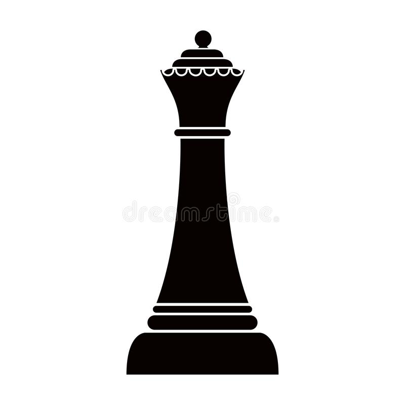 Free Silhouette Of A Queen Chess Piece Royalty Free Stock Photos - 132648528