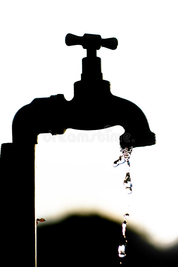 Free Silhouette Of A Tap Dripping Water Stock Photography - 11629942
