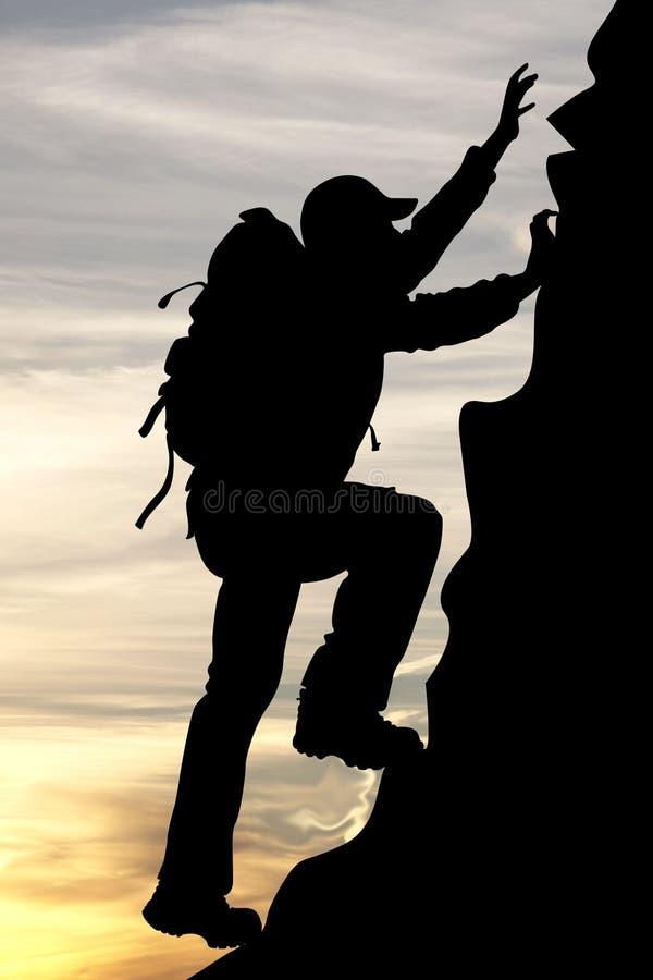 Free Silhouette Of A Traveler Tourist Mountaineer Royalty Free Stock Photos - 16890268