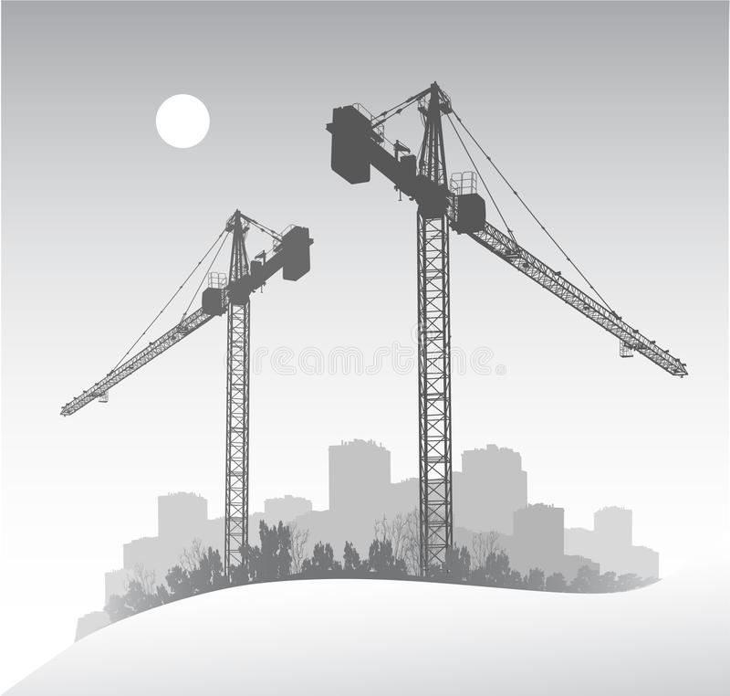 Free Silhouette Of Crane Royalty Free Stock Photography - 19211887