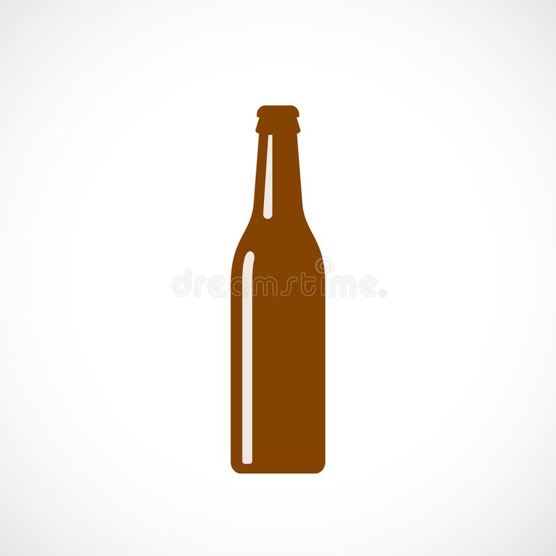 Free Silhouette Of Glass Beer Bottle Stock Image - 107804181