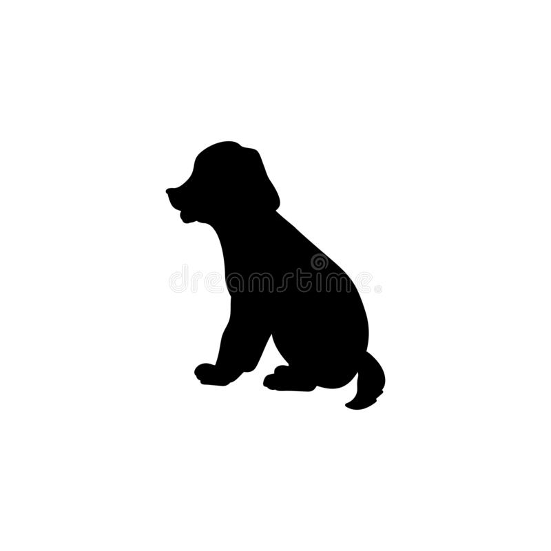 Free Silhouette Of Little Puppy. Cute Young Animal. Stock Images - 164375014