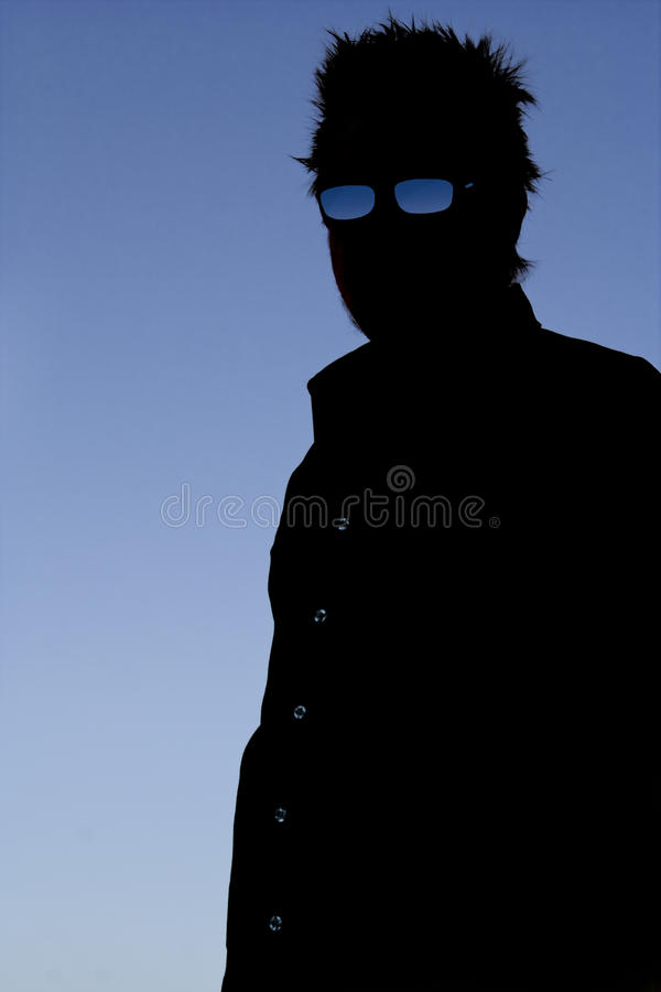 Free Silhouette Of Man With Glasses Royalty Free Stock Photo - 19584365