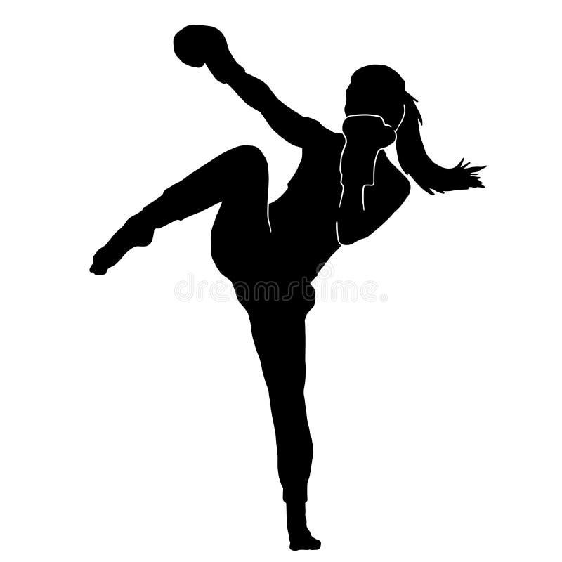 Free Silhouette Of Martial Art Female Kicking Stock Photo - 215807550