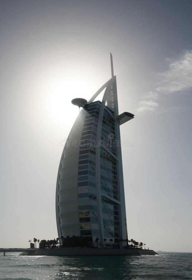 Free Silhouette Of The Burj Al Arab Hotel Stock Images - 3853914