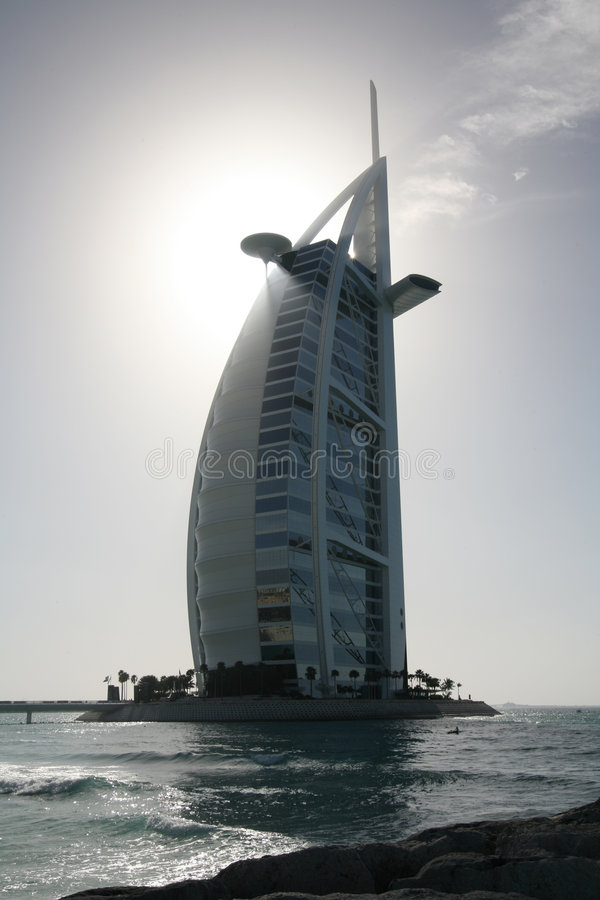 Free Silhouette Of The Burj Al Arab Hotel Royalty Free Stock Images - 3853919