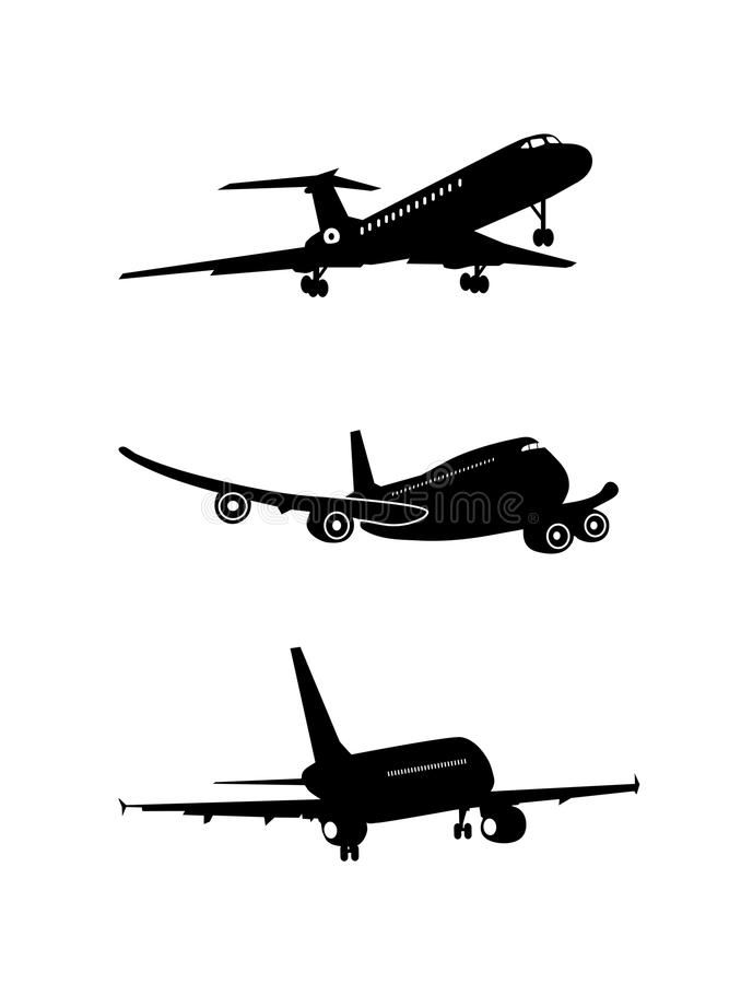 Free Silhouette Of The Flying-up Plane Is Presented Stock Photo - 42925700