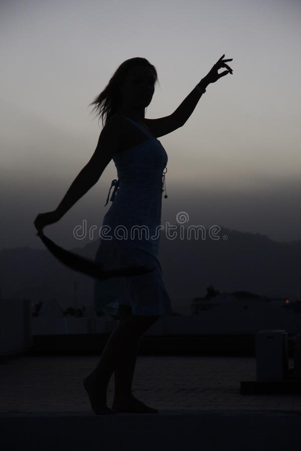 Free Silhouette Of Woman Stock Image - 18266001