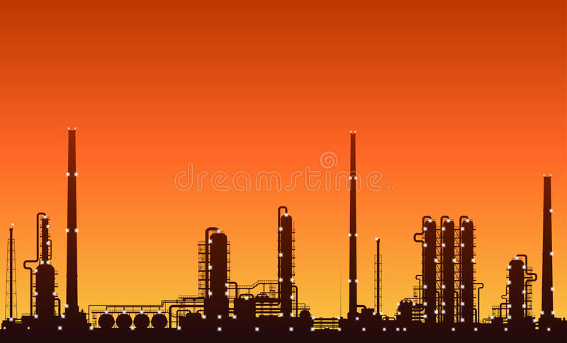 silhouette-oil-refinery-chemical-plant-n