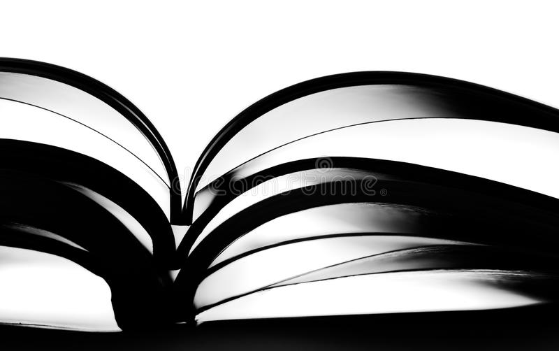 Silhouette Of Opened Book Stock Photo
