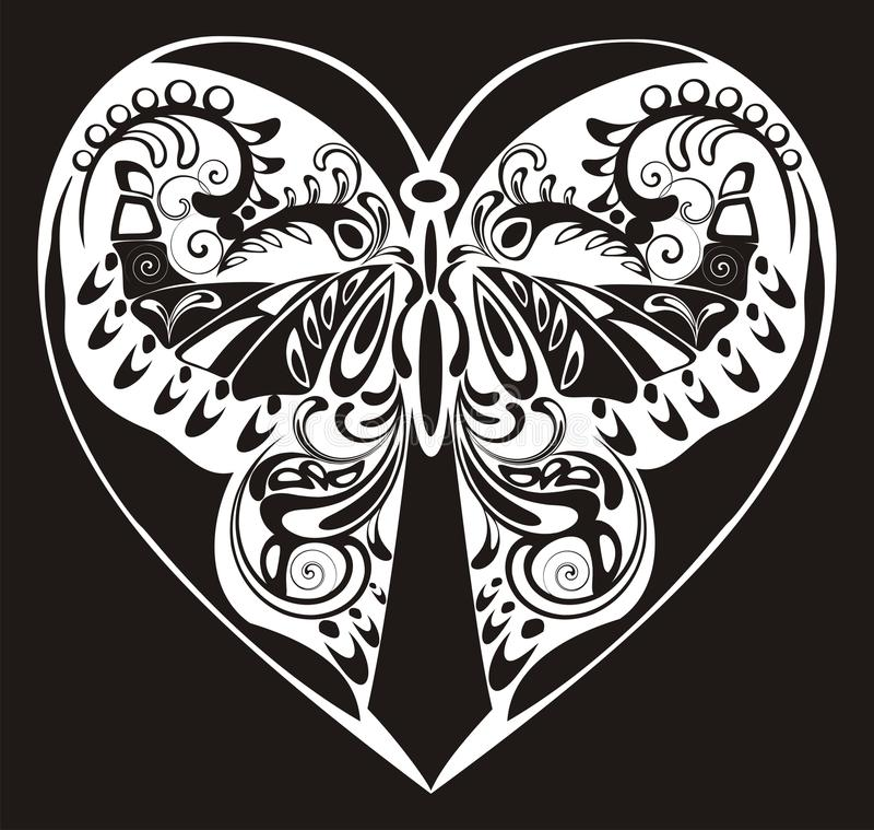 Download Silhouette Ornamental Butterfly Stock Illustration - Image: 23175977