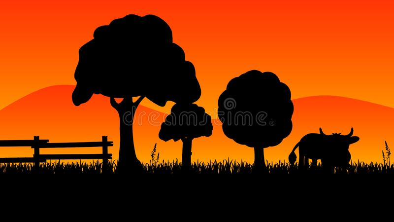 Silhouette, Ostrich, Sky, Grass royalty free stock photos
