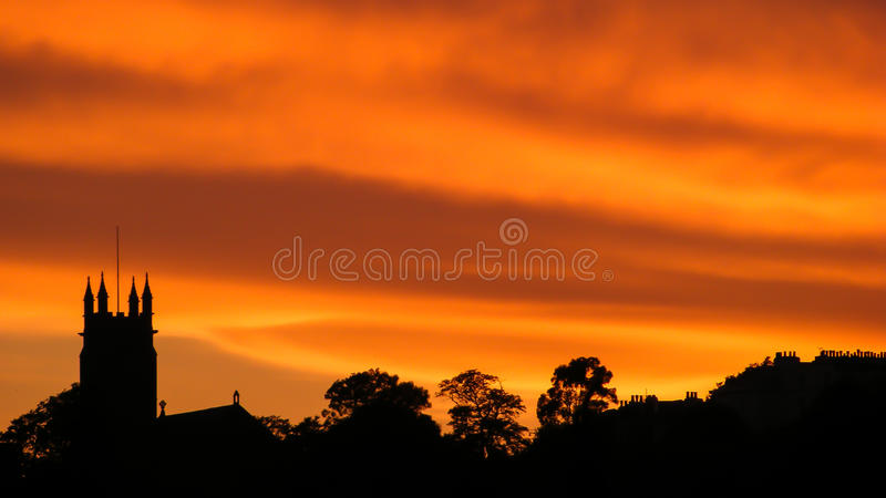 Silhouette of our church. stock image