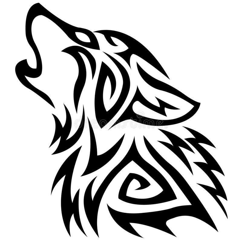 Wolf Head Vector Drawing, Wolf Face Drawing Sketch, Wolf ...