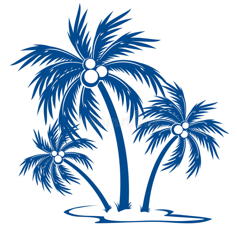 Download Silhouette Palm trees stock vector. Image of coconut - 18097684