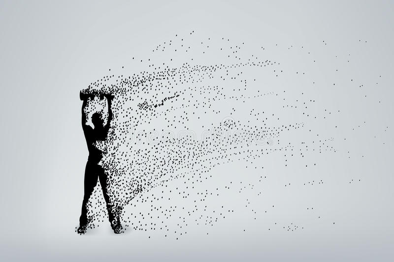 Silhouette particles 01 vector illustration
