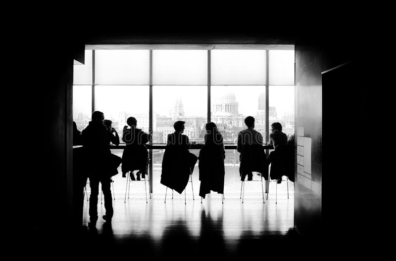 Silhouette Of People In Cafe Free Public Domain Cc0 Image