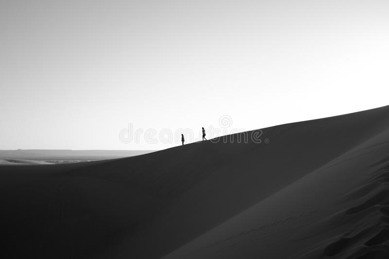 Silhouette Of People In Desert Free Public Domain Cc0 Image