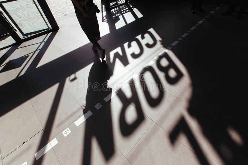 Silhouette Of Person Exiting To A Building At Daytime Free Public Domain Cc0 Image