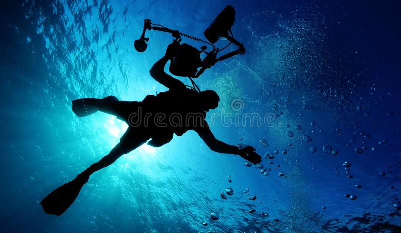 Silhouette Of Person Holding Camera In Body Of Water Free Public Domain Cc0 Image