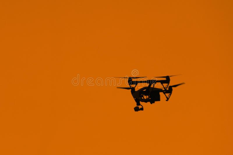 Silhouette of a personal drone royalty free stock photos