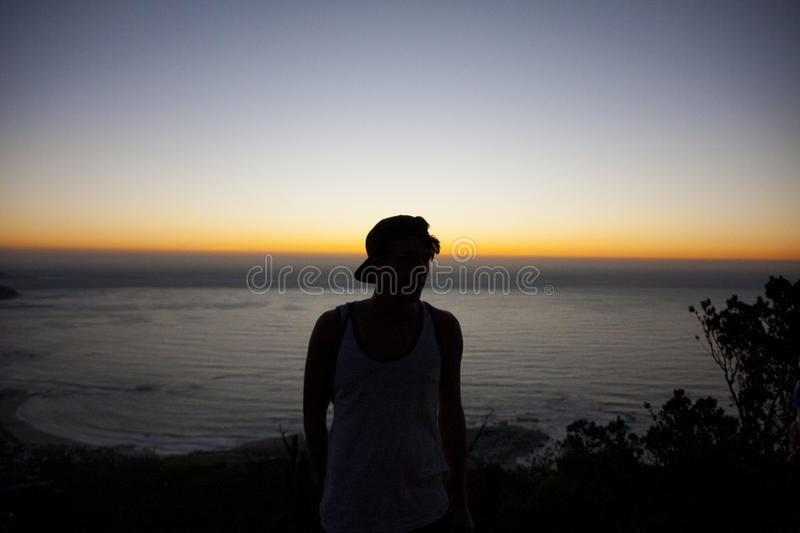 Silhouette Photo Of Man Standing Near Beach Free Public Domain Cc0 Image