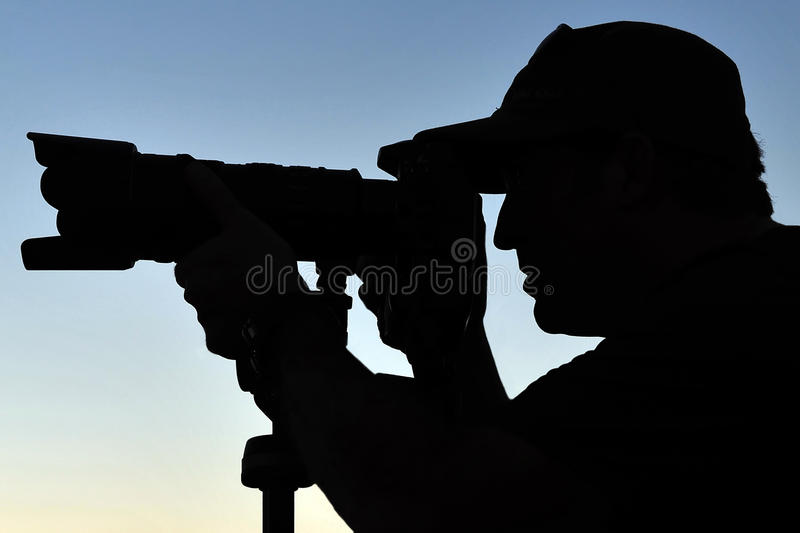 Download Silhouette of Photographer stock photo. Image of photograph - 18614944