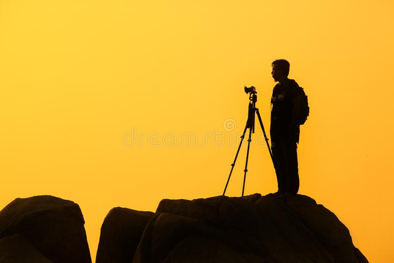 Silhouette Of Photographer Free Public Domain Cc0 Image