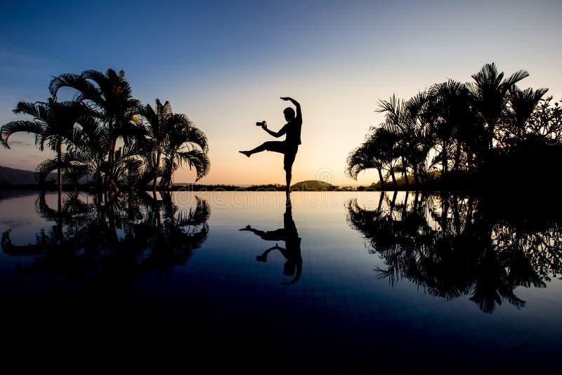 Silhouette photographer royalty free stock photos