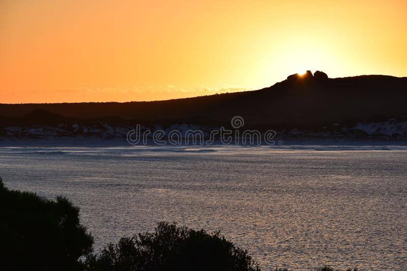 Silhouette Photography of Mountain during Sunset stock photo