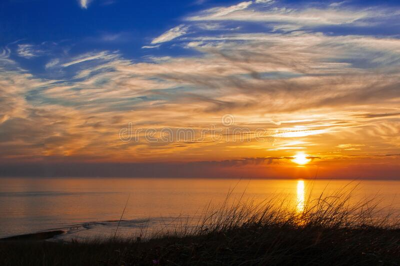 Silhouette Photography of Ocean during Sunset stock photos
