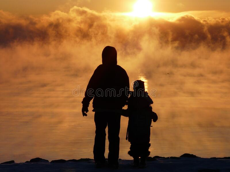 Silhouette Photography Of Two Person During Sunset Free Public Domain Cc0 Image