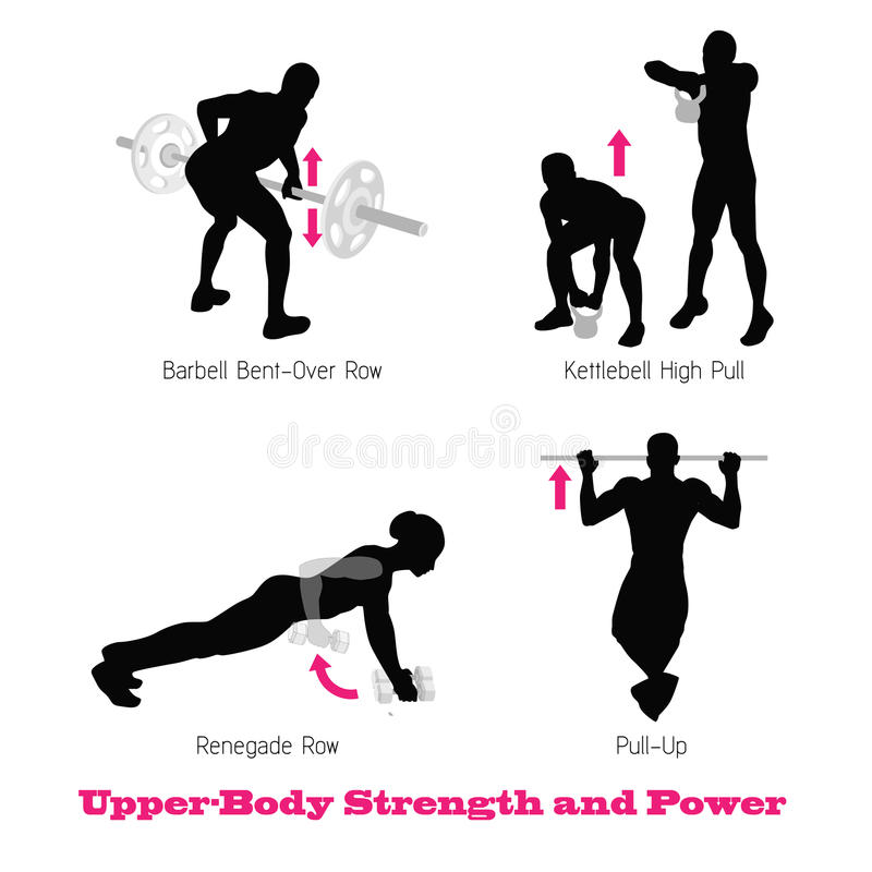 Silhouette physique de muscle d'exercice illustration libre de droits
