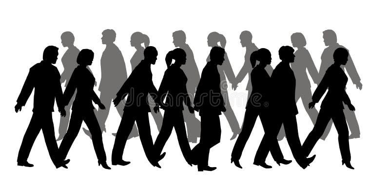 Silhouette piétonnière illustration libre de droits