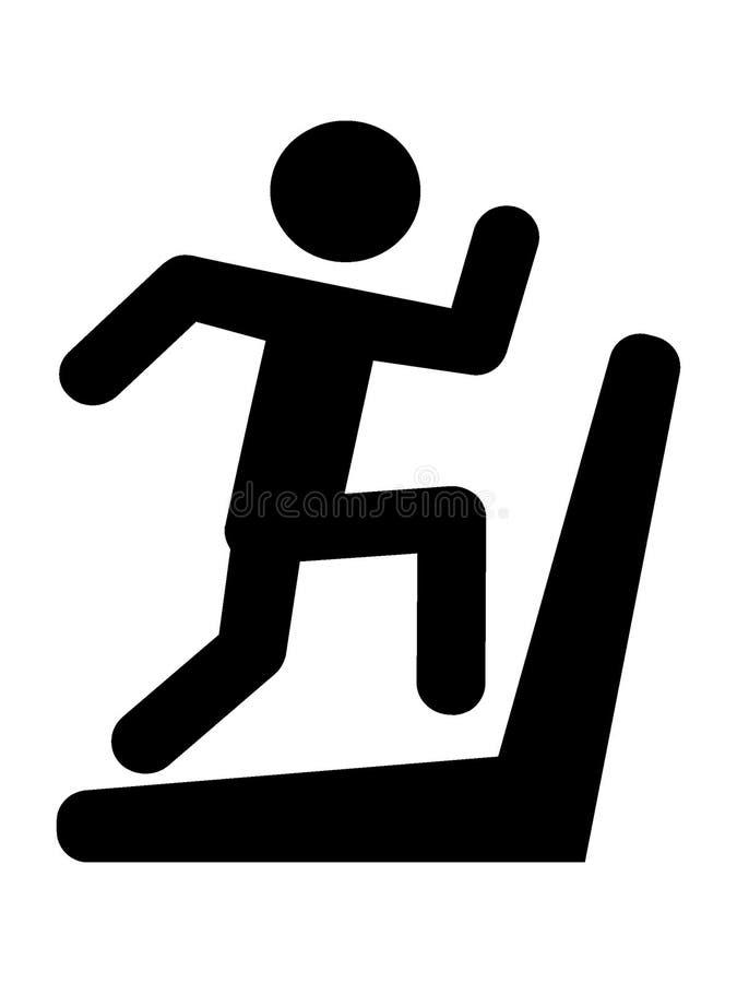 Silhouette picture of a treadmill icon. Vector illustration of the Silhouette picture of a treadmill icon vector illustration