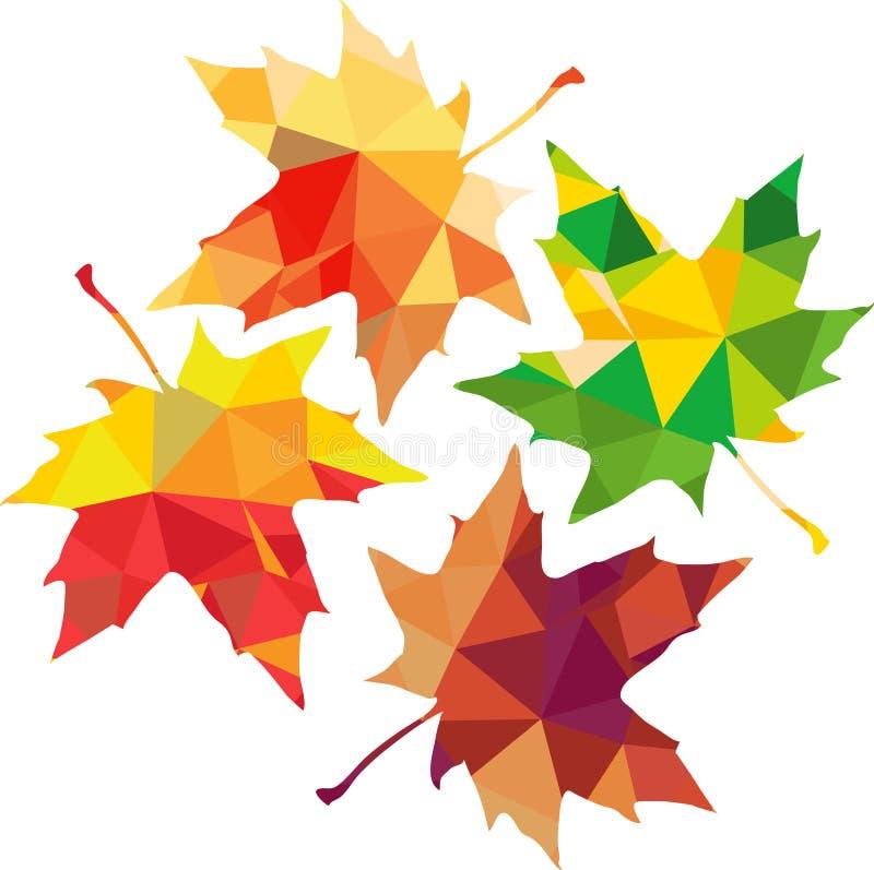 Download Silhouette Polygonale De Triangle Des Feuilles D'érable Illustration de Vecteur - Illustration du nature, forme: 45368314