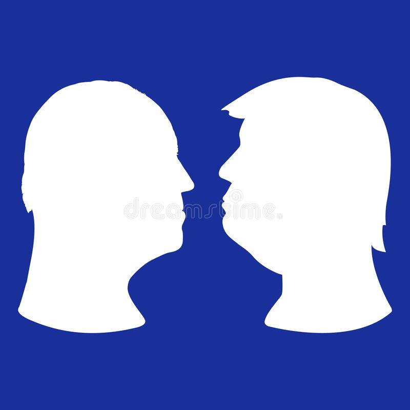 Free Silhouette Portraits Of Joe Biden And Donald Trump Royalty Free Stock Images - 192150779
